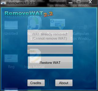menghilangkan Windows Genuine Validation pada Windows 7 dan Windows XP